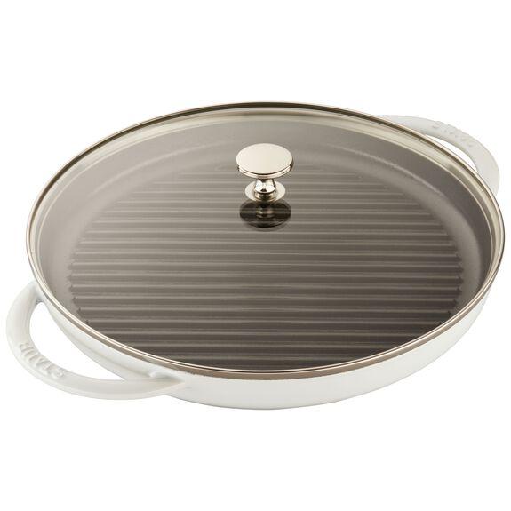 11.81-inch Enamel Grill pan,,large