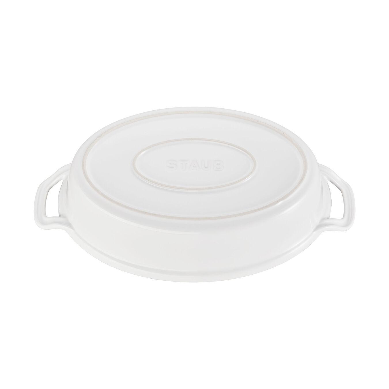 Ceramic Special shape bakeware, white,,large 3