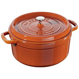 Staub Cast Iron, 5.5-qt round Cocotte, Burnt Orange