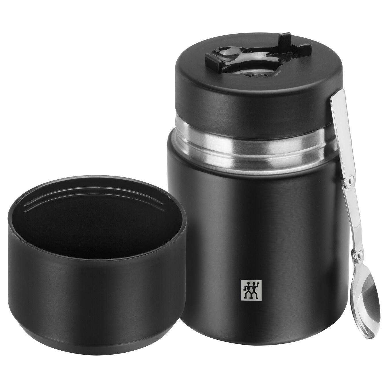 Recipiente alimentare - 700 ml, acciaio inox, nero,,large 3