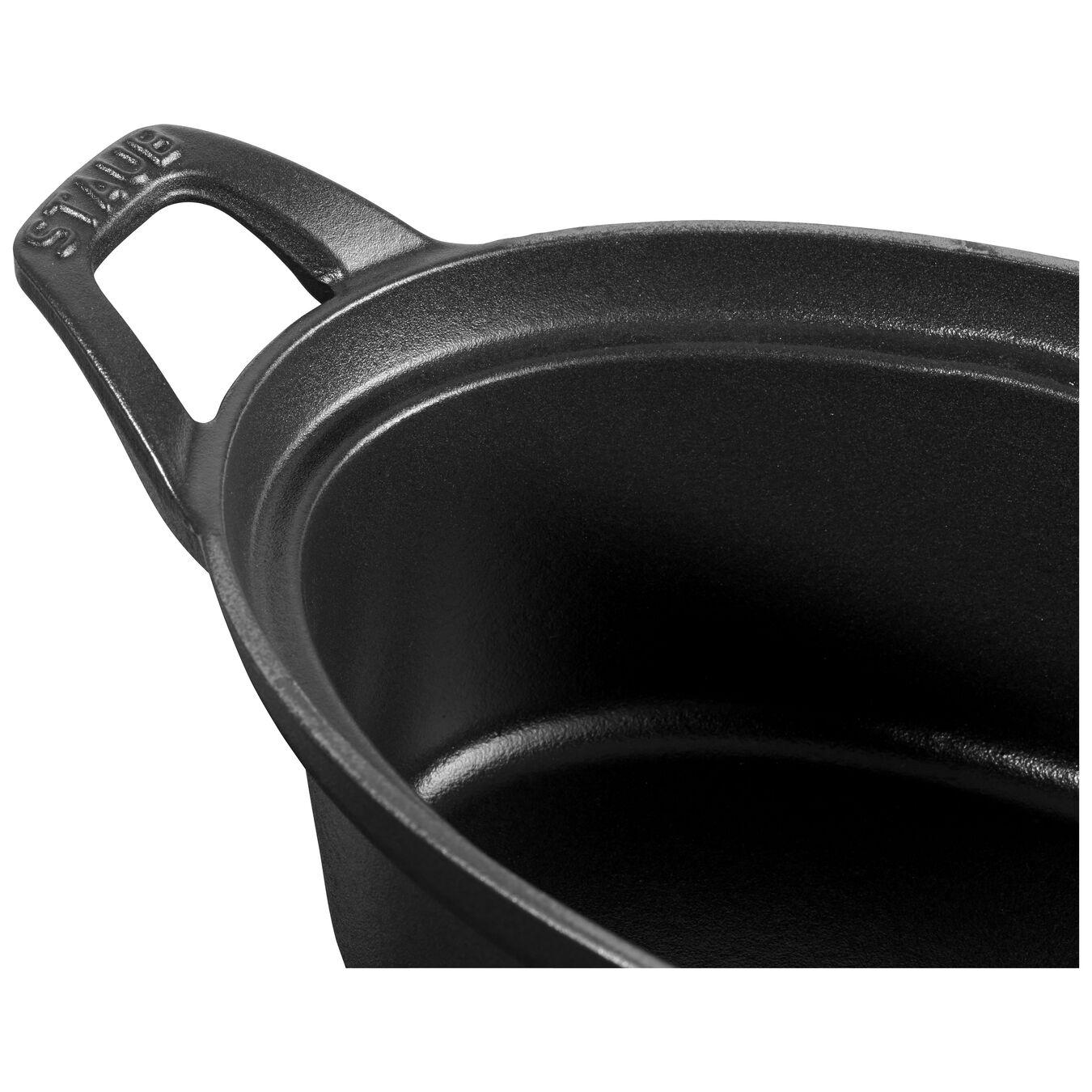 La Coquette 23 cm, Ovale, Noir,,large 4
