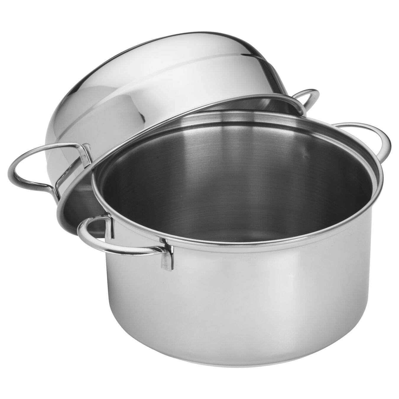 3 l 18/10 Stainless Steel round Moulière, Silver,,large 3