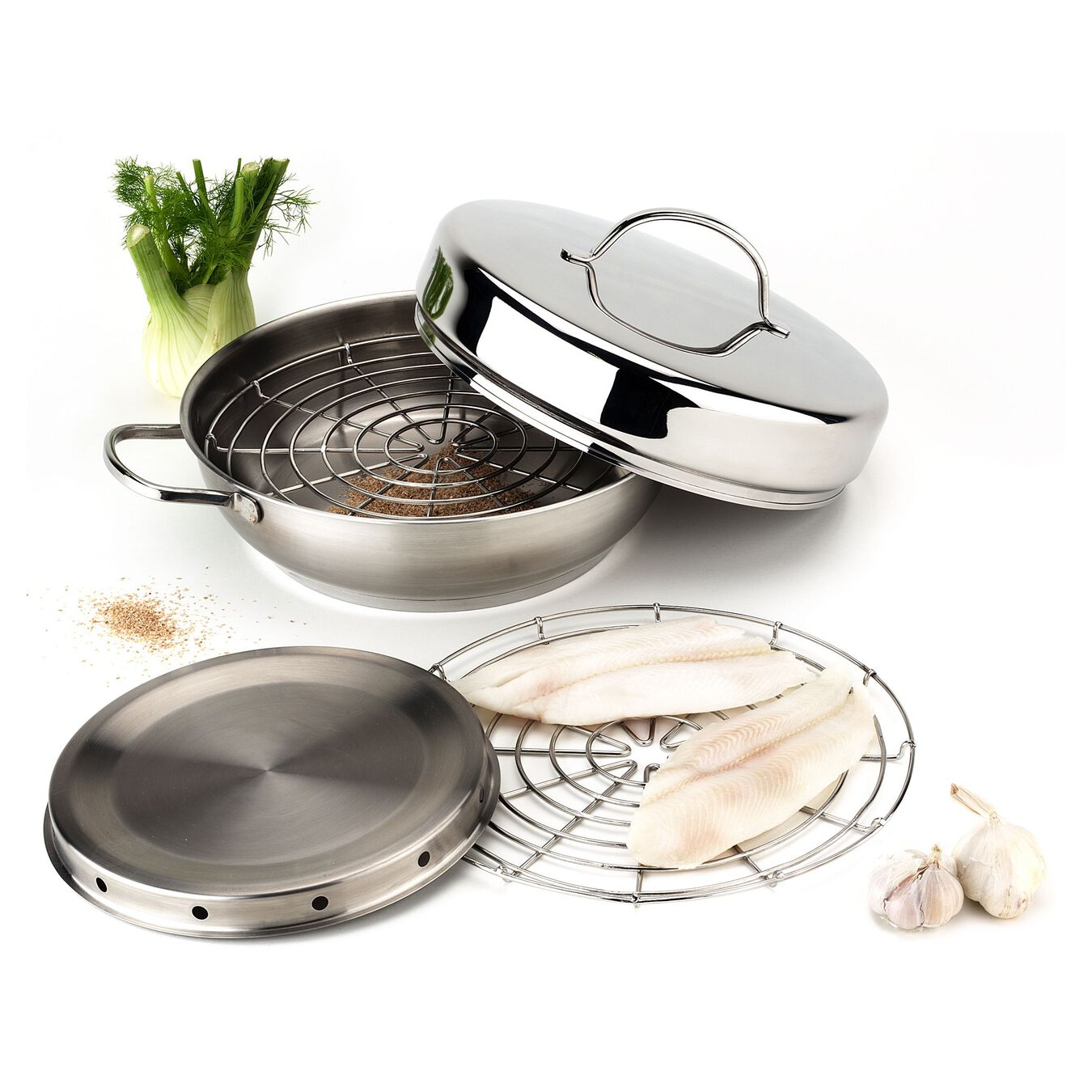 18/10 Stainless Steel Set de fumage,,large 2