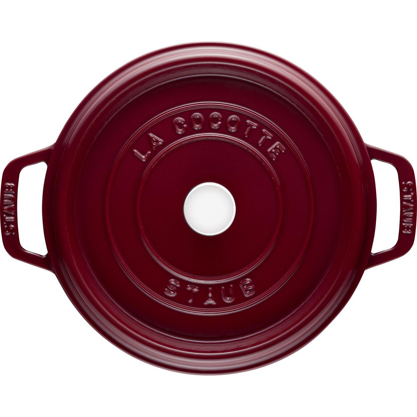 3.75 l Cast iron round Cocotte, Bordeaux,,large 3