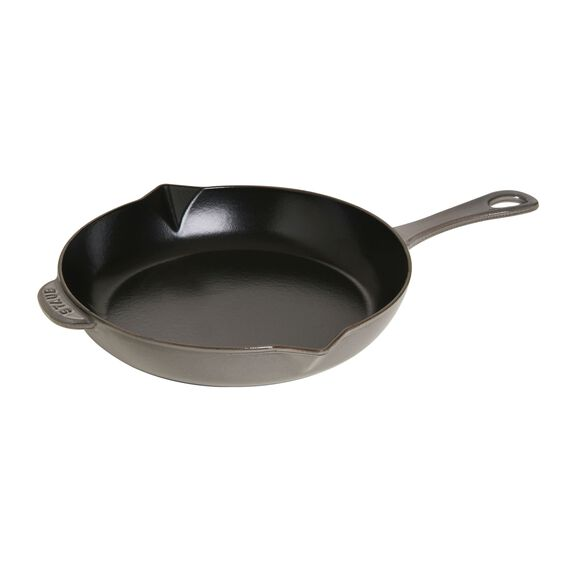 10-inch Cast iron Frying pan with pouring spout,,large