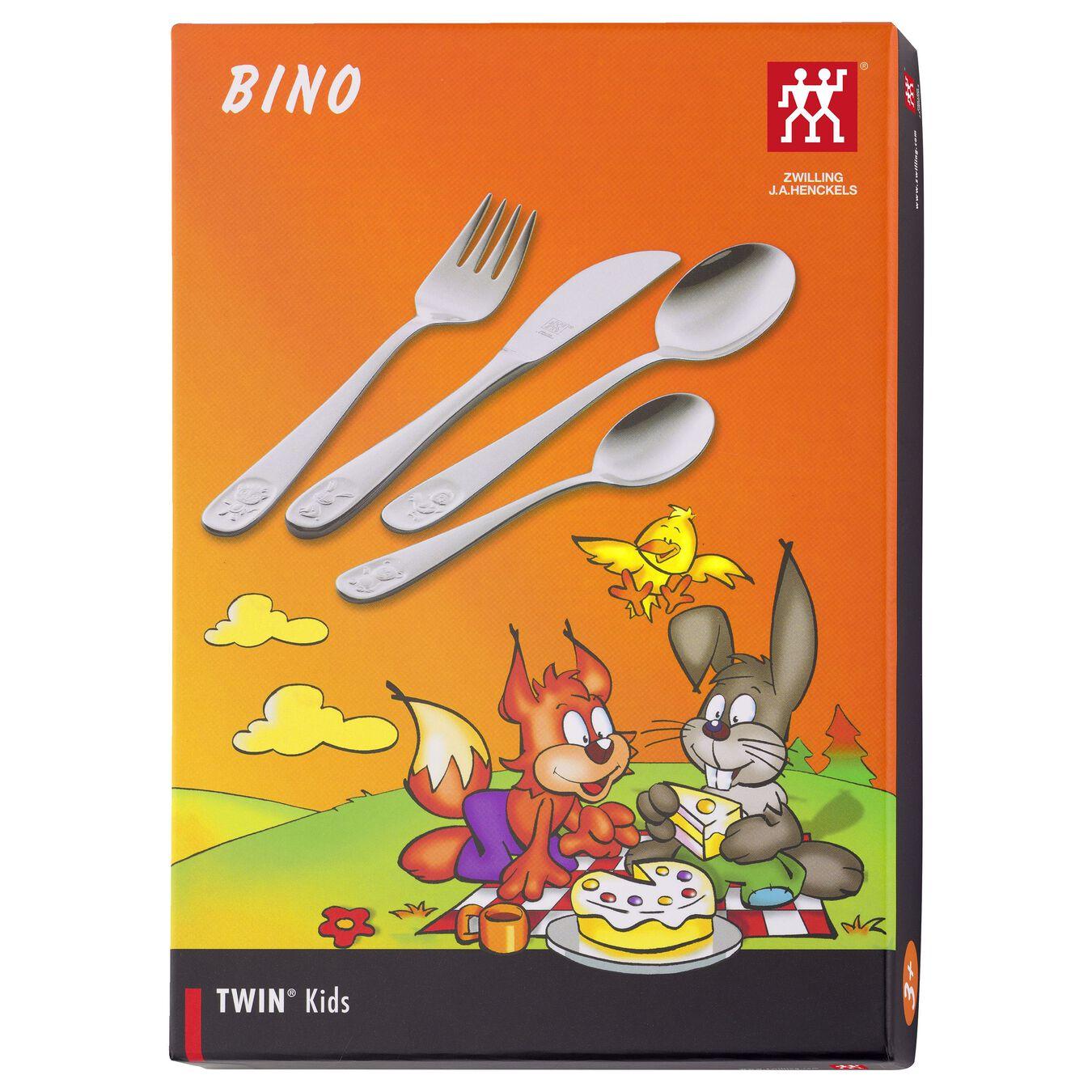4-pc TWIN Kids  Bino Flatware Set, 18/10 Stainless Steel ,,large 2