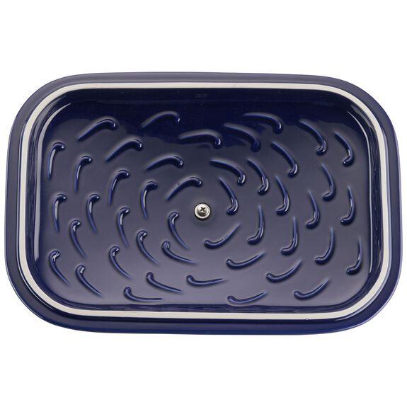 Ceramic Rectangular Covered Baking Dish, Dark Blue,,large 4