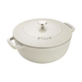 Staub Cast iron, 3.75-qt Essential French Oven - White Truffle