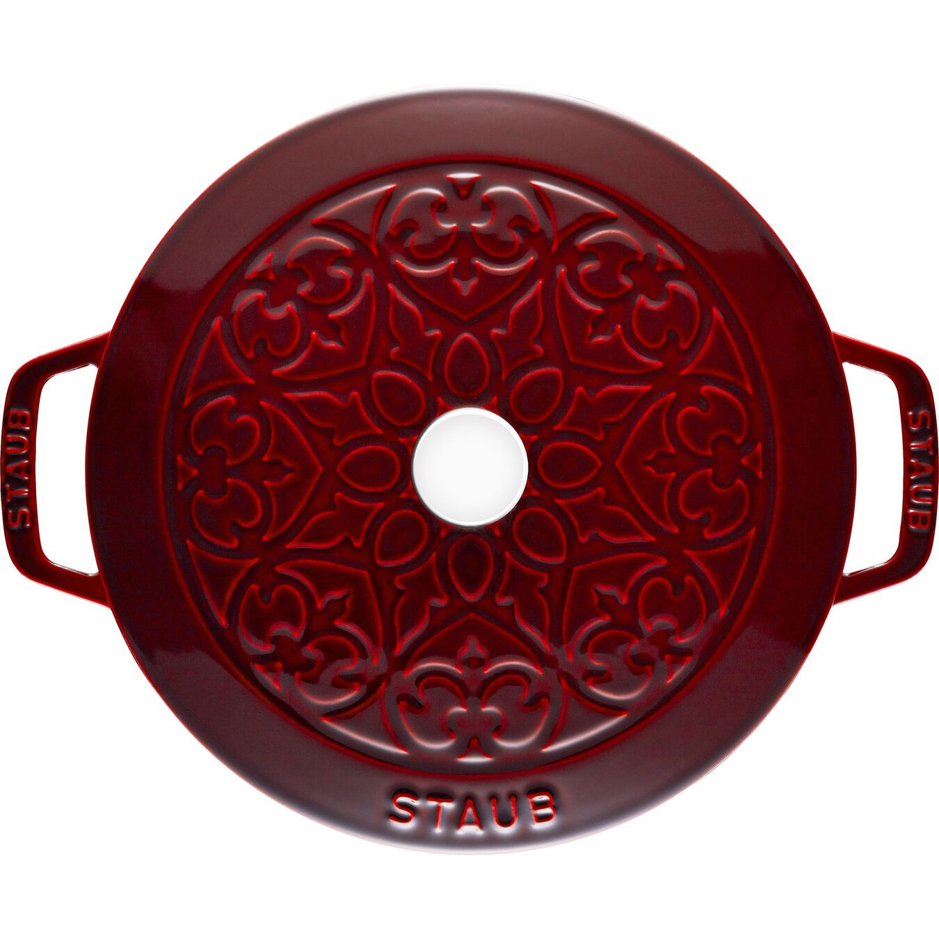 5-qt Essential French Oven with Lilly Lid - Visual Imperfections - Grenadine,,large 3