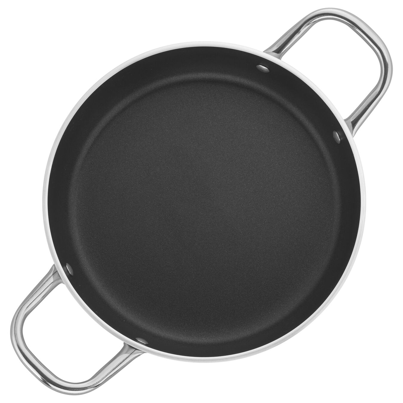 9.5-inch Aluminum Nonstick Braiser Without Lid,,large 1