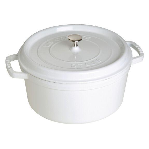 7-qt Round Cocotte - White,,large