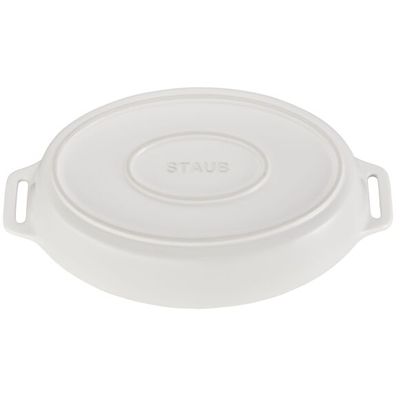 14.5-inch Oval Baking Dish - Matte White,,large 3