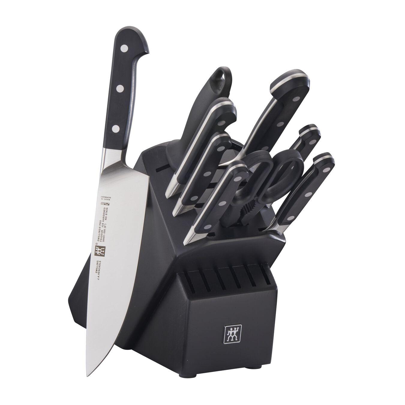 10-pc, Knife block set, black matte,,large 1