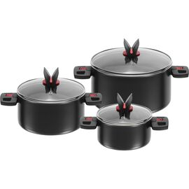 BALLARINI Click & Cook, Kochtopfset 3-tlg, Aluminium