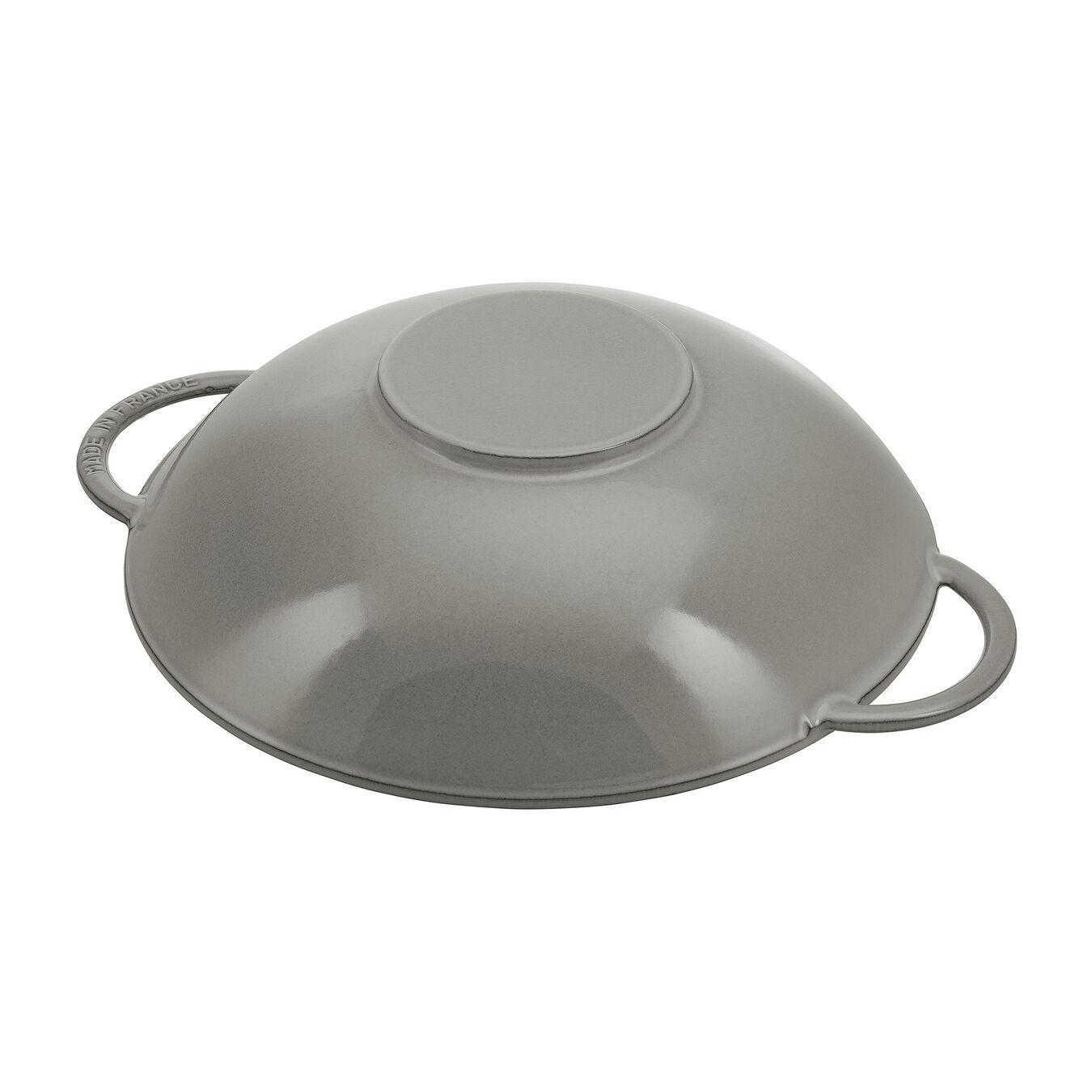 Wok con coperchio in vetro rotondo - 37 cm, grigio grafite,,large 4
