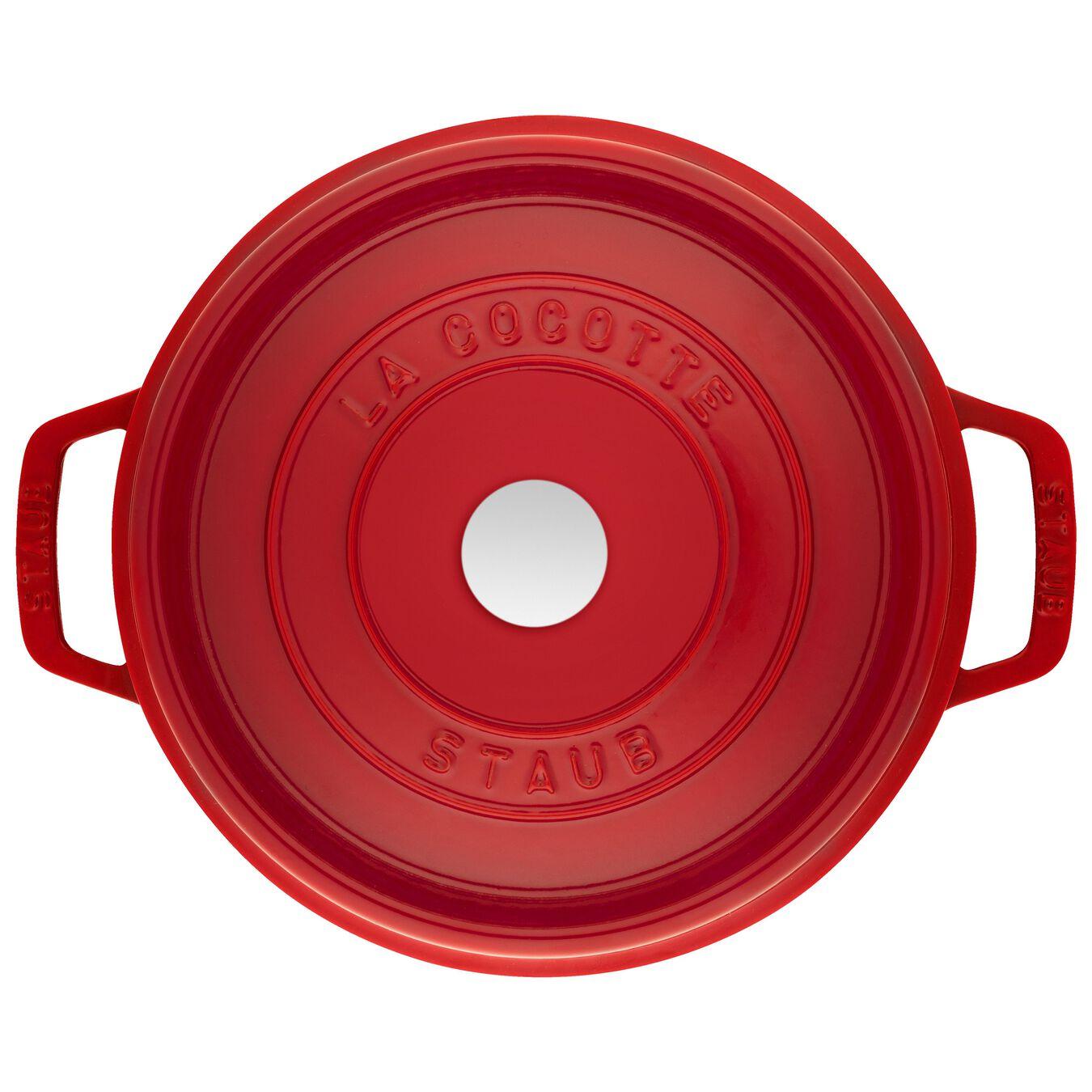 4.8 l Cast iron round Cocotte, cherry,,large 3