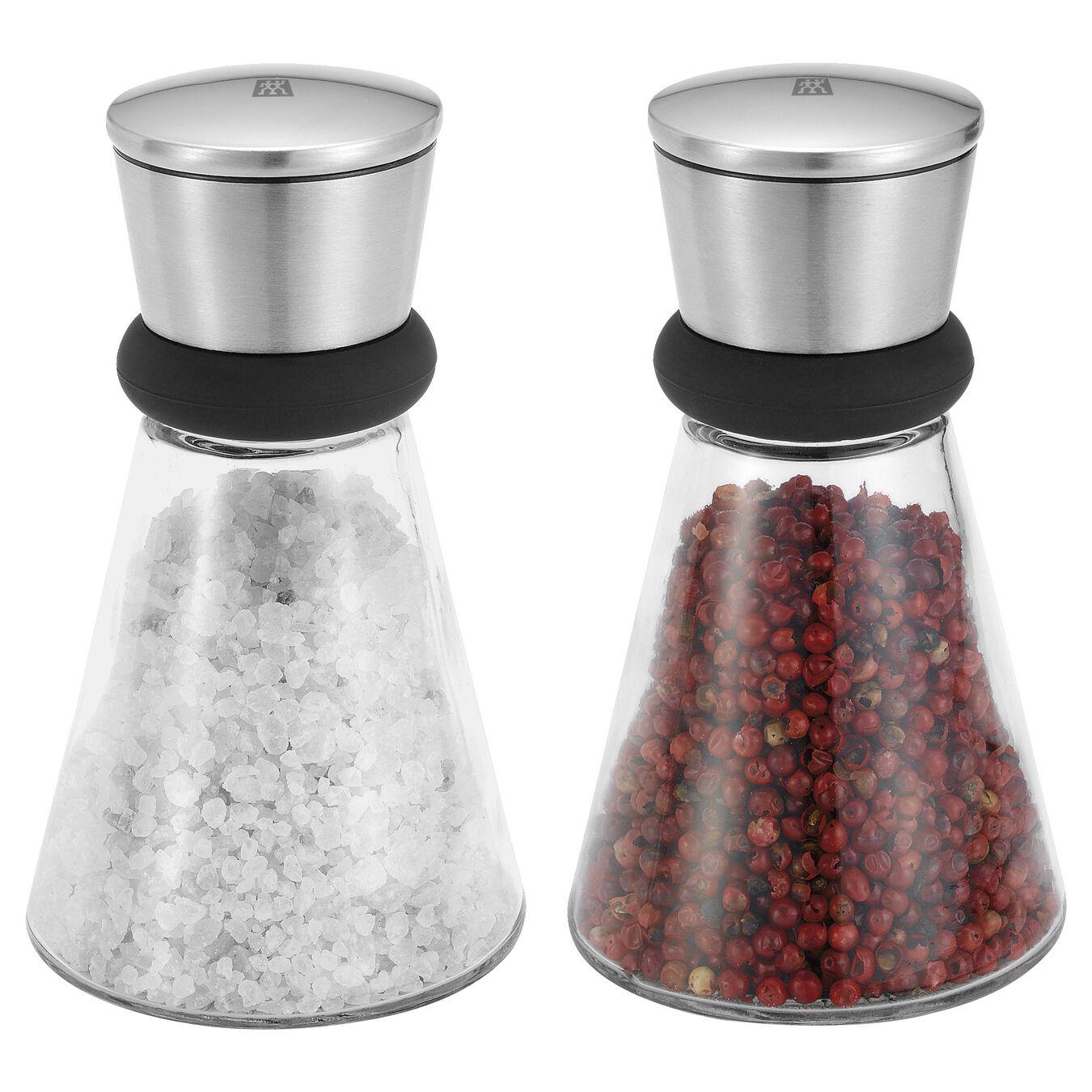 2-pcs Glass Moulin à poivre et sel,,large 1