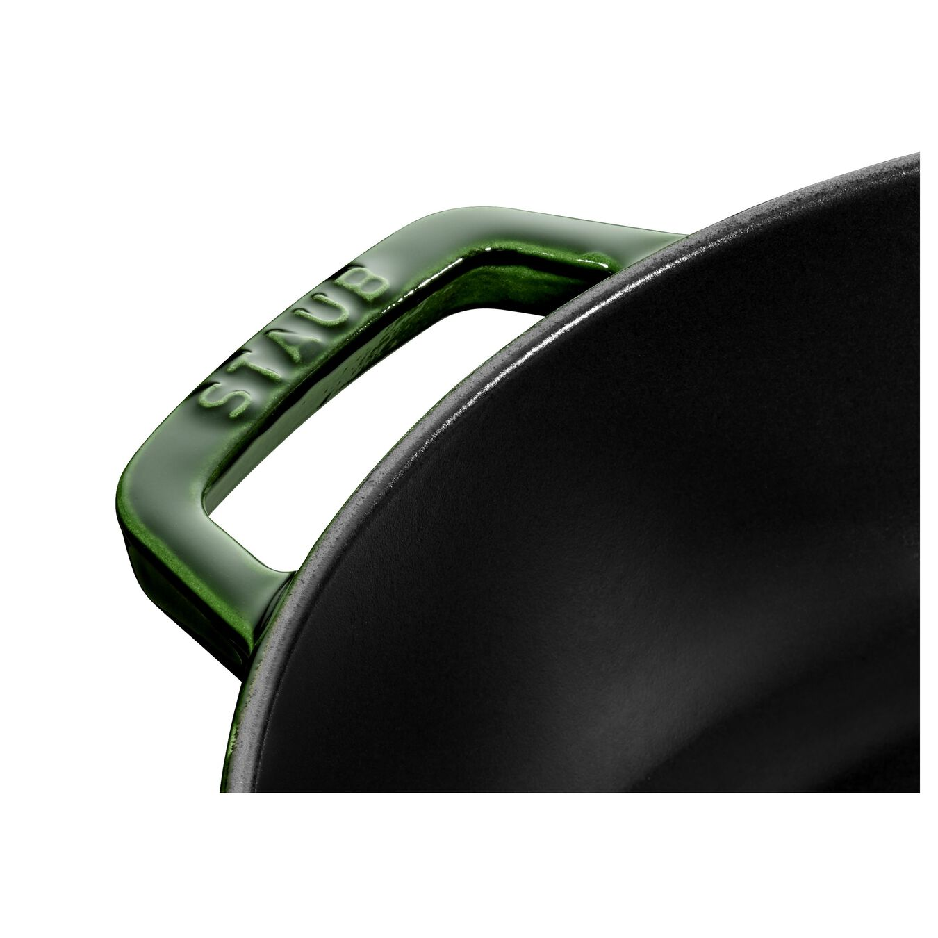 2.5 l Cast iron round Saute pan Chistera, Basil-Green,,large 5
