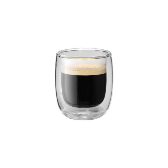 2-pc  Espresso glass set,,large