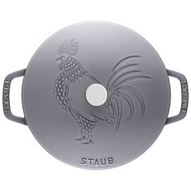 Staub Cast Iron, 3.75-qt Essential French Oven Rooster - Grpahite Grey