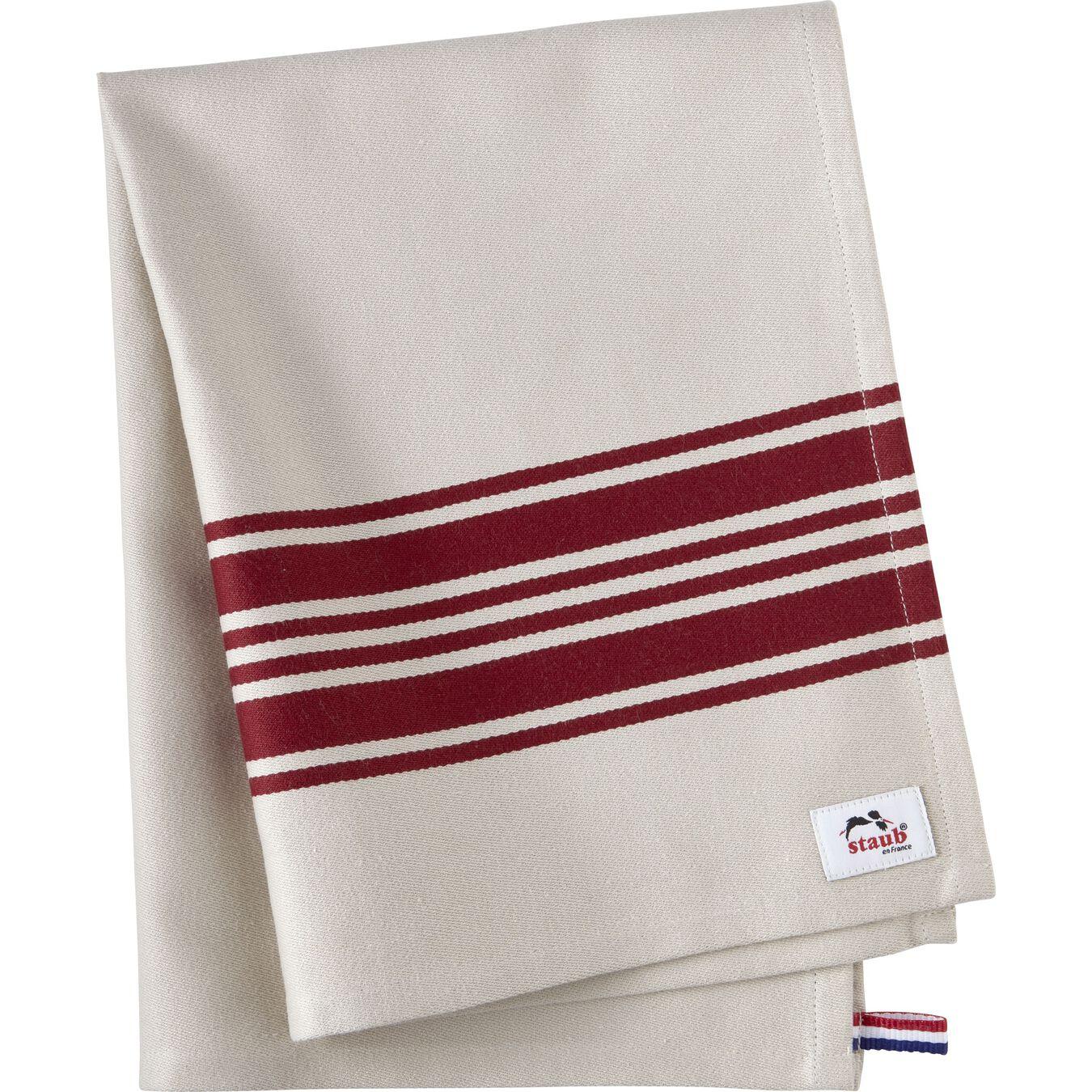 70 cm x 50 cm Cotton Kitchen towel, Cherry,,large 1