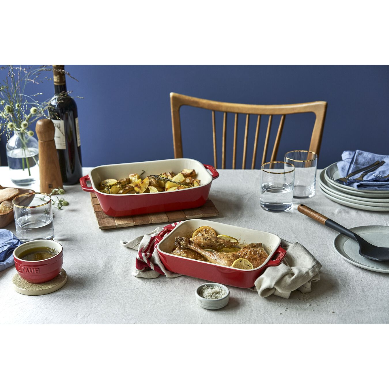 2-pc, Rectangular Baking Dish Set, cherry,,large 3