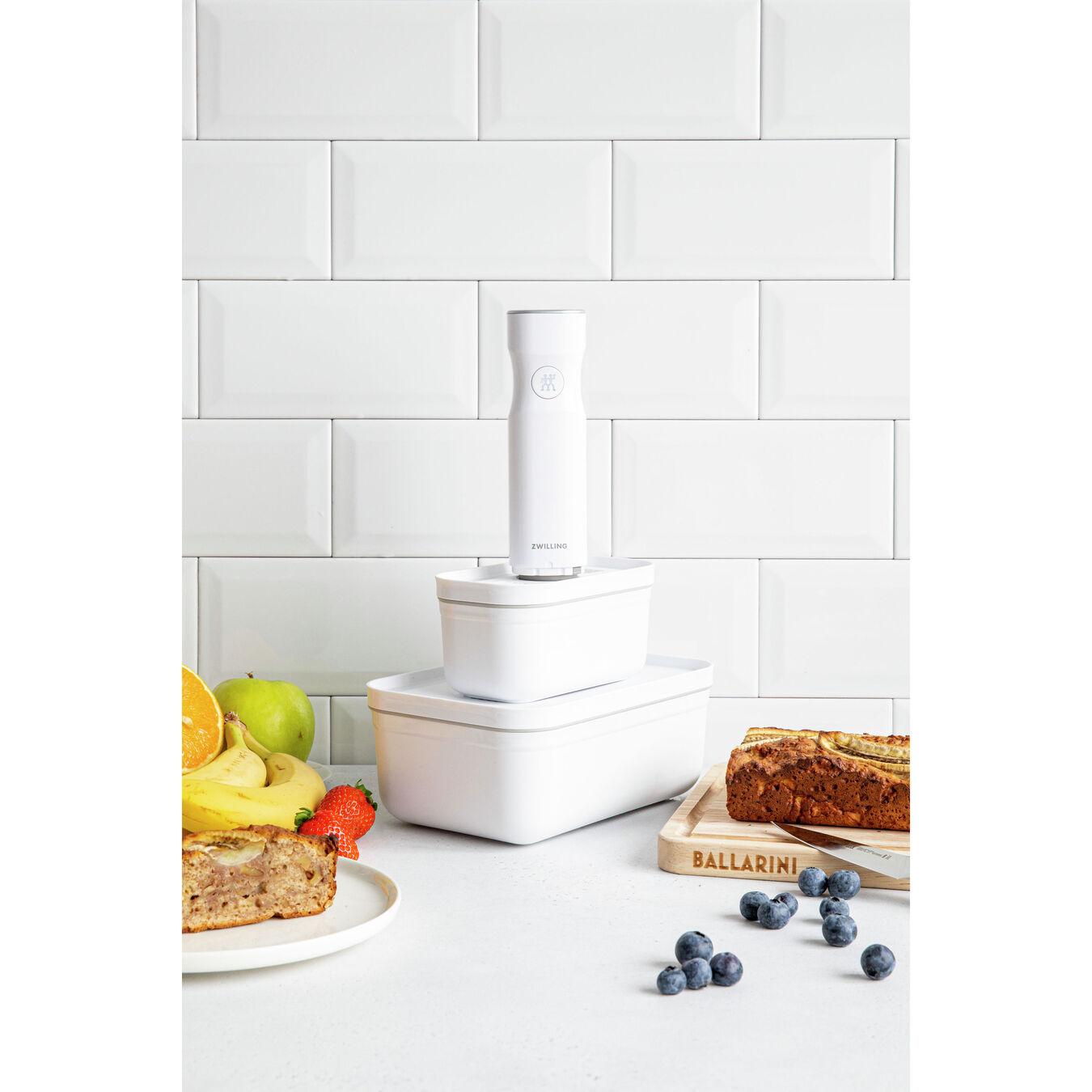 Lunch box sottovuoto - S, plastica, bianco,,large 4