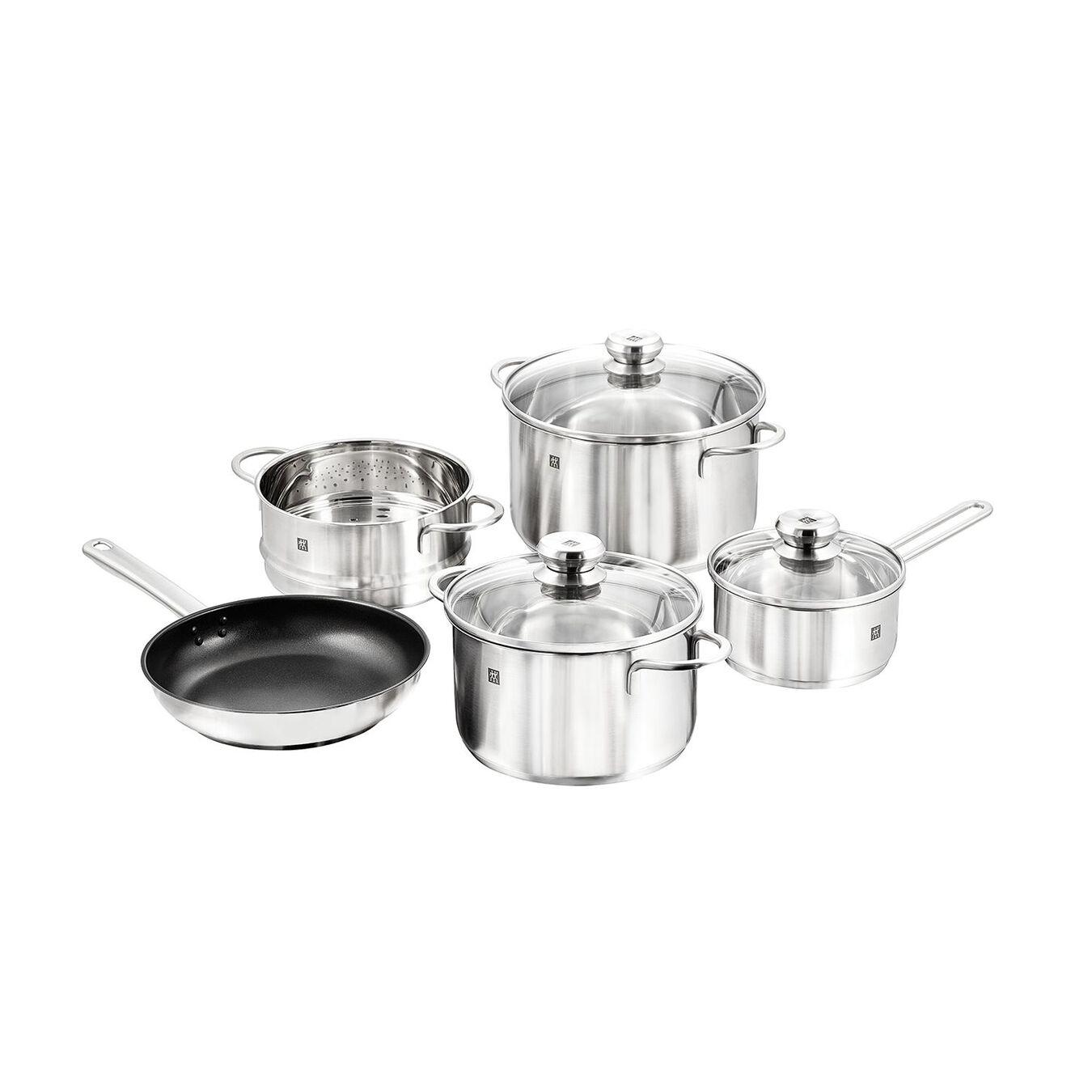 8-pcs 18/10 Stainless Steel Ensemble de casseroles et poêles,,large 1