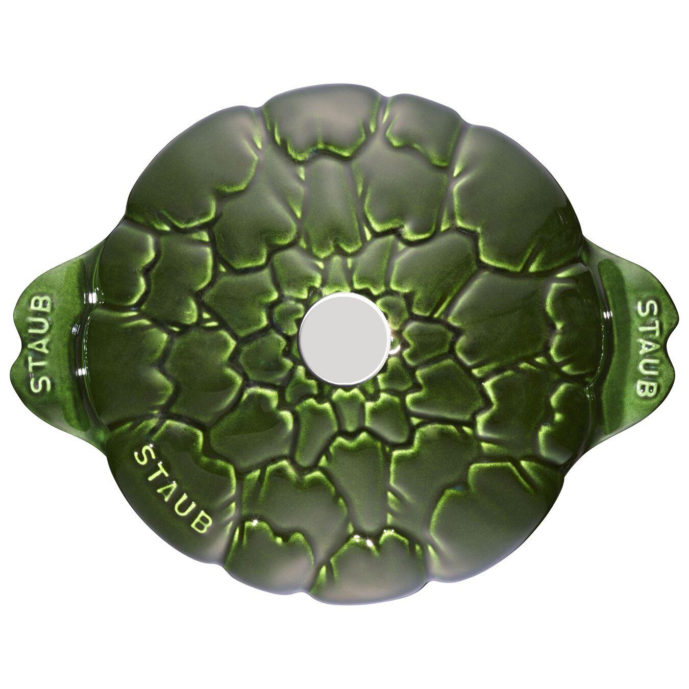 Cocotte 22 cm, Artichaut, Basilic, Fonte,,large 2