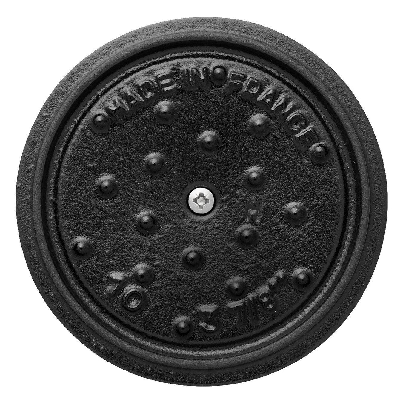 Mini Cocotte 10 cm, rund, Bordeaux, Gusseisen,,large 6