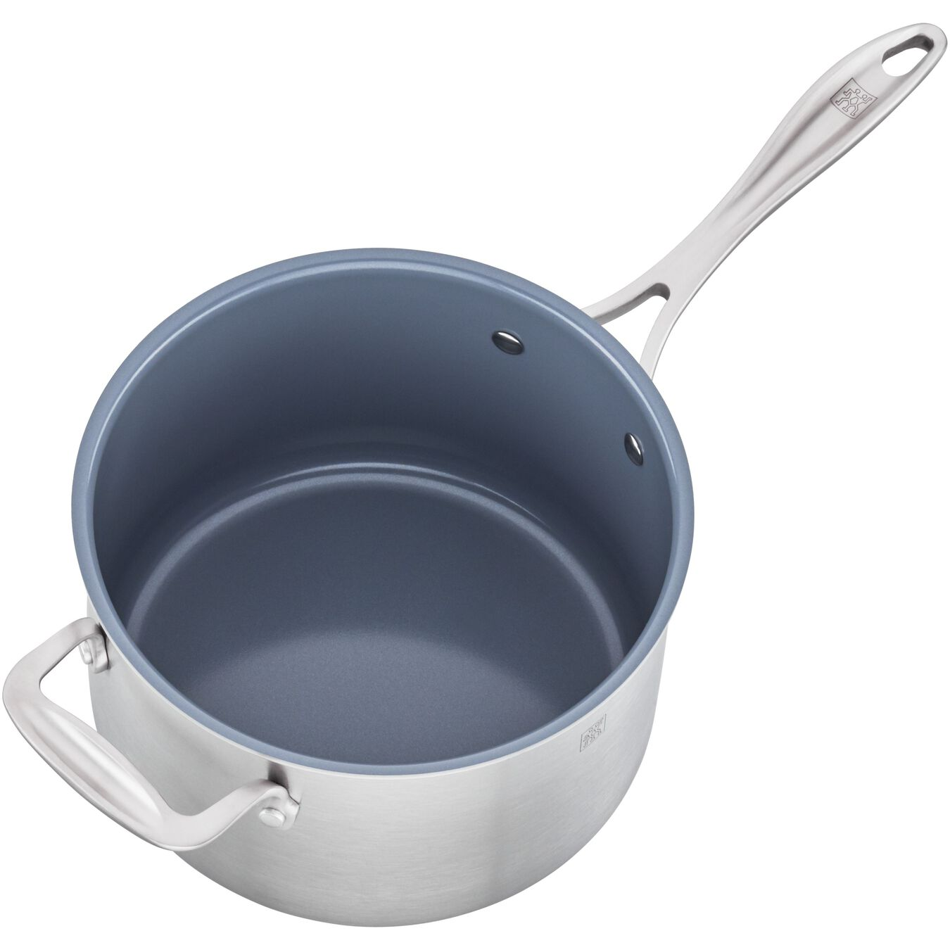 3-ply 4-qt Stainless Steel Ceramic Nonstick Saucepan,,large 4