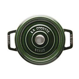 Staub Cast iron, 2.32-qt round Cocotte, Basil - Visual Imperfections