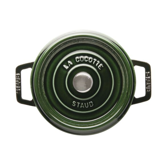 2.32-qt round Cocotte, Basil - Visual Imperfections,,large 2
