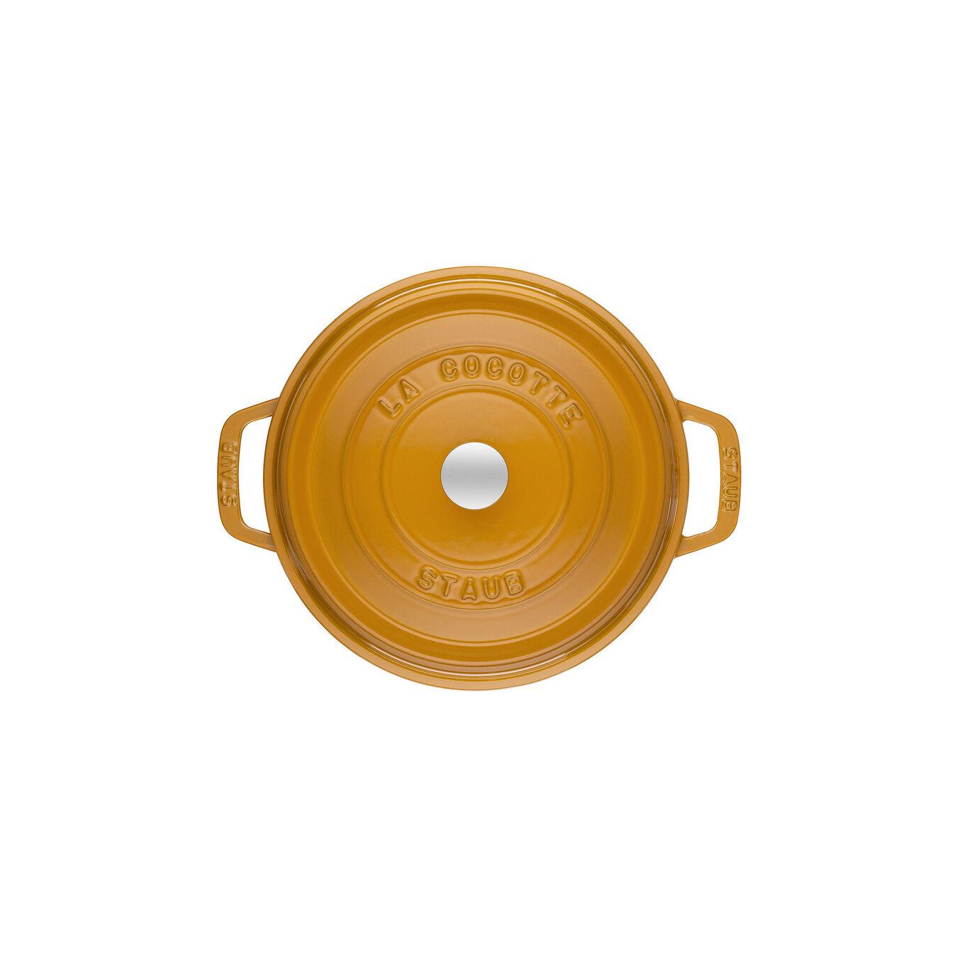 Cocotte 20 cm, Rond(e), Moutarde, Fonte,,large 2