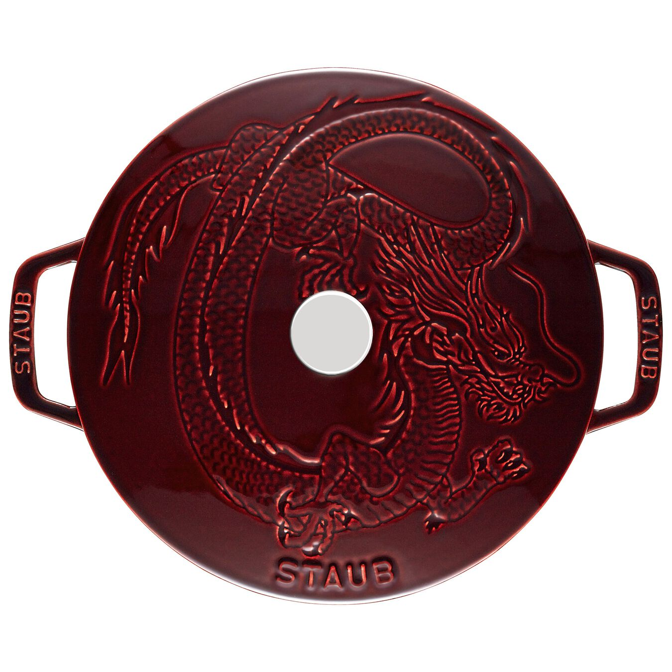3.6 l Cast iron round French oven, Grenadine-Red,,large 3