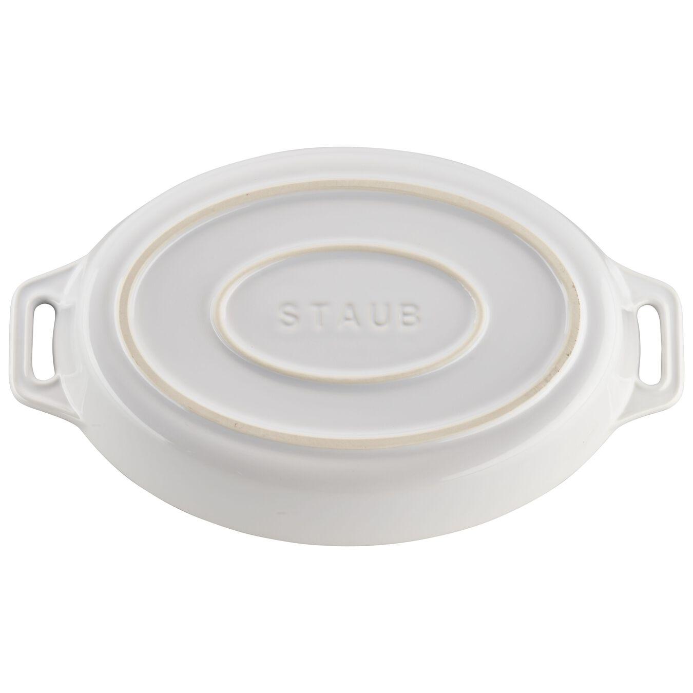 2-pc, oval, Bakeware set, white,,large 6