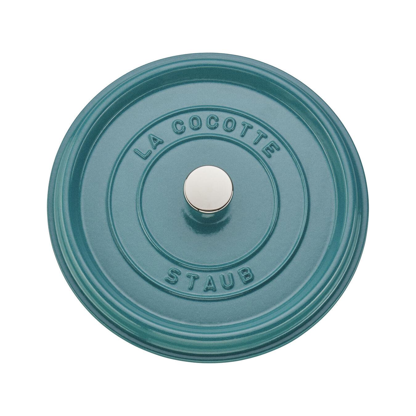 4 qt, round, Cocotte, turquoise,,large 5