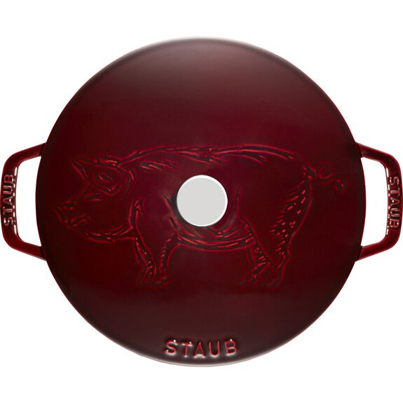 24-cm-/-9.5-inch round French oven Pig, Grenadine-Red,,large 2