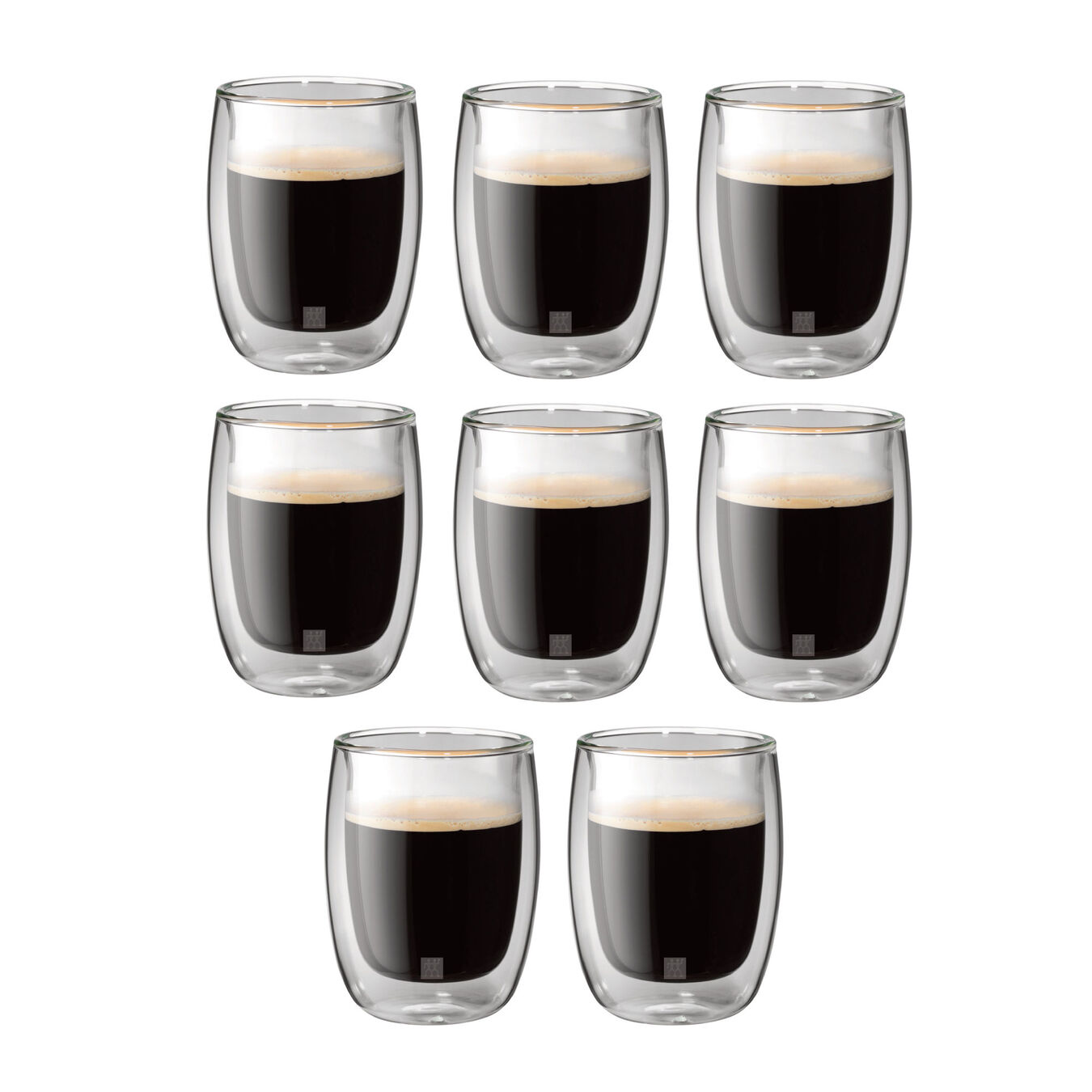 8 Piece Coffee Glass Set - Value Pack,,large 2