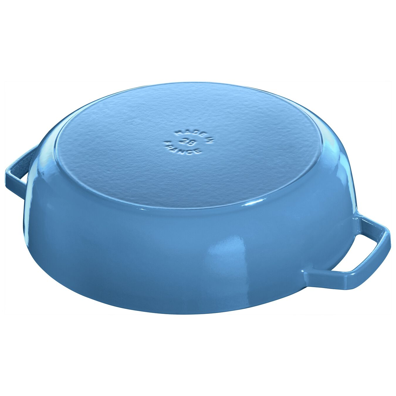 3.75 l Cast iron round Saute pan Chistera, ice-blue,,large 5