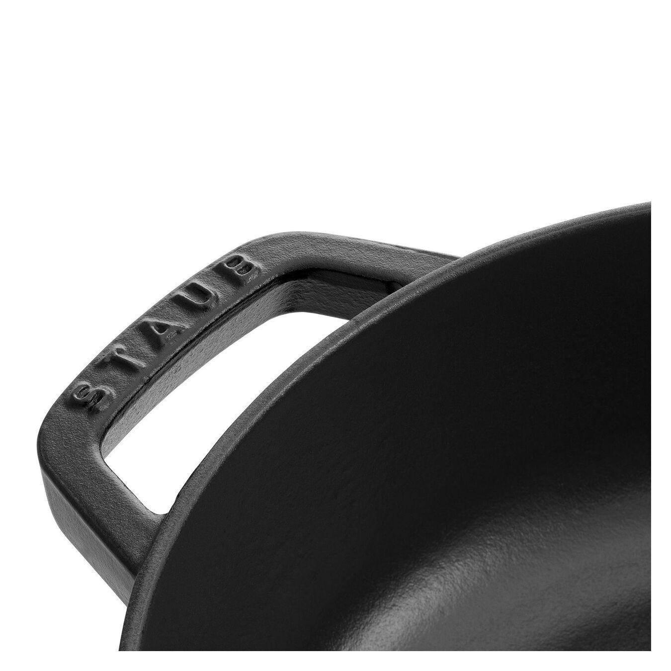 3.7 l Cast iron round Saute pan Chistera, black,,large 3