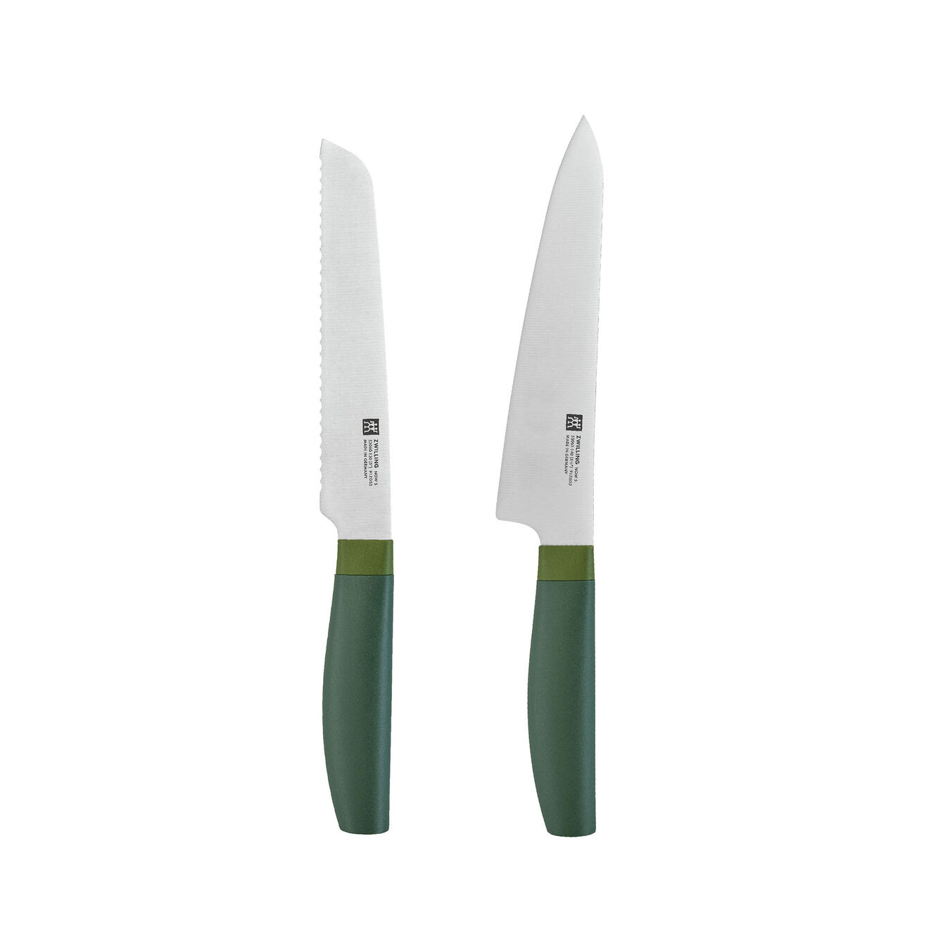 2-pc, Knife set, lime green,,large 1