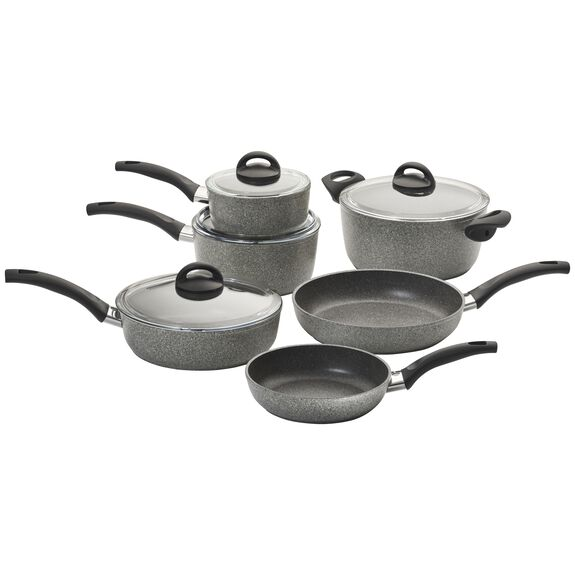 10-pc Forged Aluminum Nonstick Cookware Set, , large