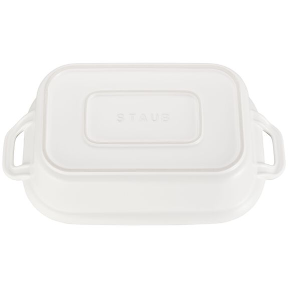 12-inch x 8-inch Rectangular Covered Baking Dish, Matte White, , large 3