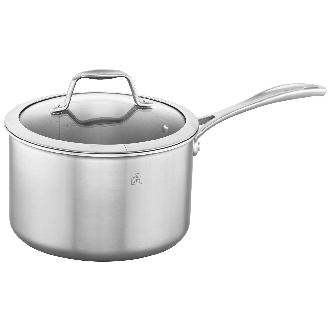 3-ply 4-qt Stainless Steel Saucepan,,large 1