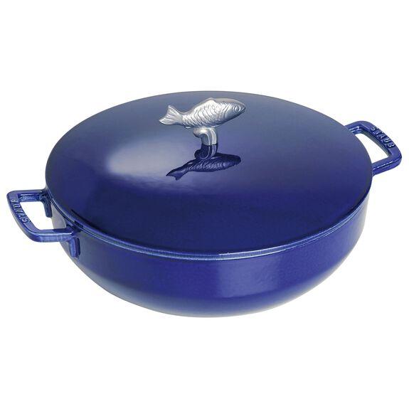 11-inch Cast iron Bouillabaisse pot,,large