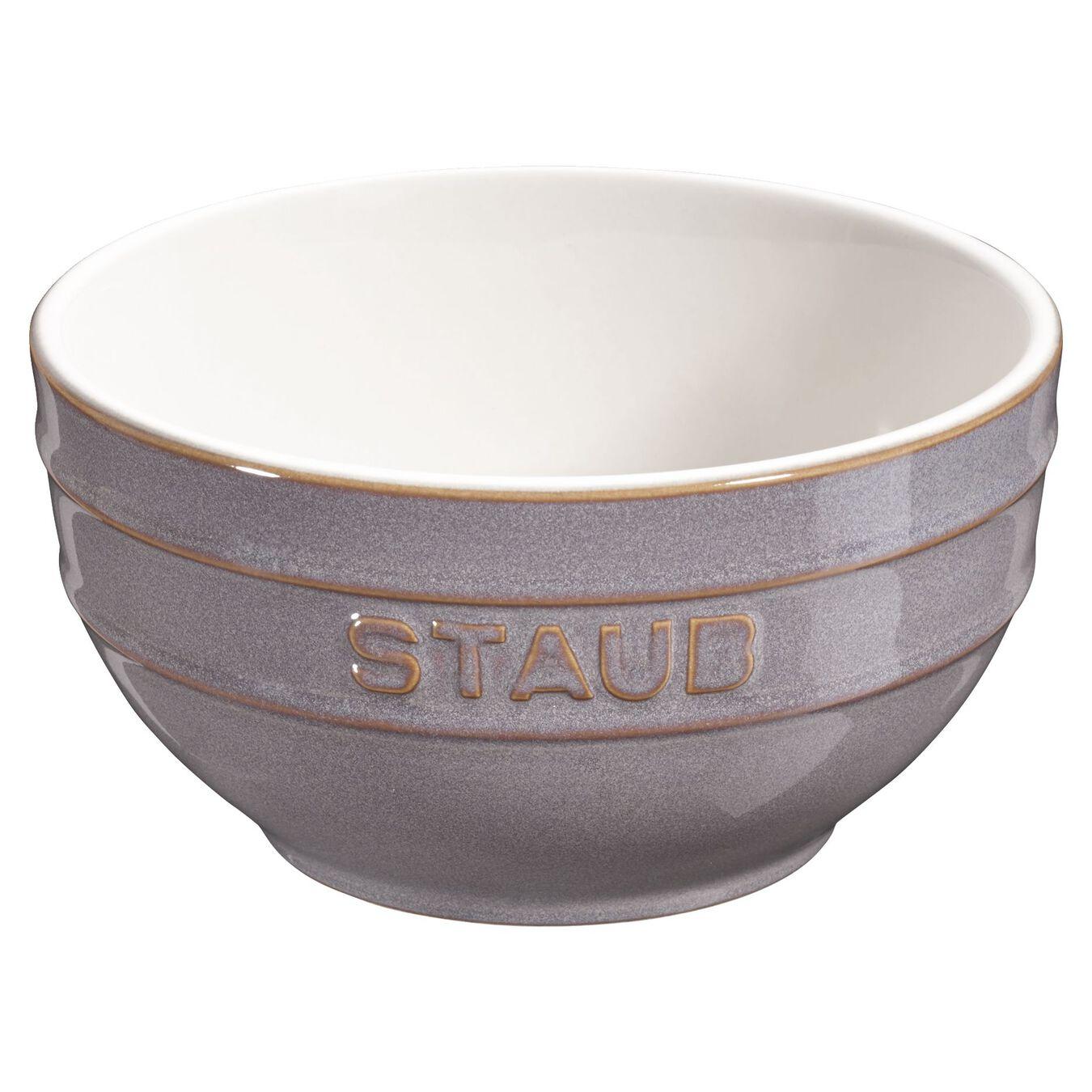 14 cm Ceramic round Bol, Ancient-Grey,,large 1