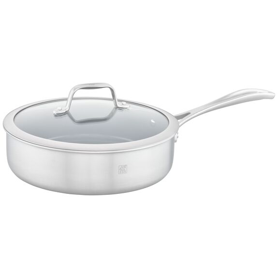 3-ply 3-qt Stainless Steel Ceramic Nonstick Saute Pan,,large