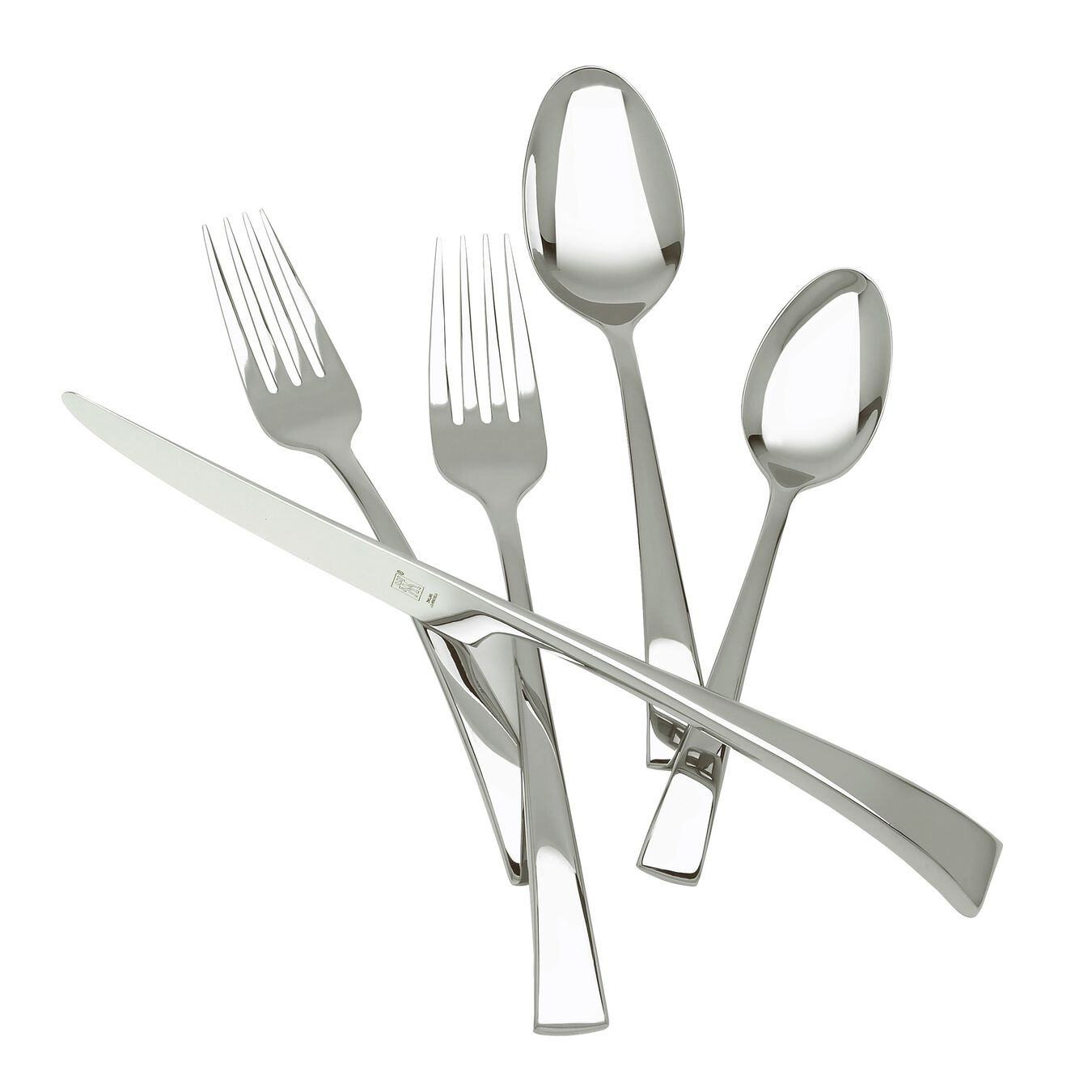 45 Piece Flatware Set matted/polished,,large 1