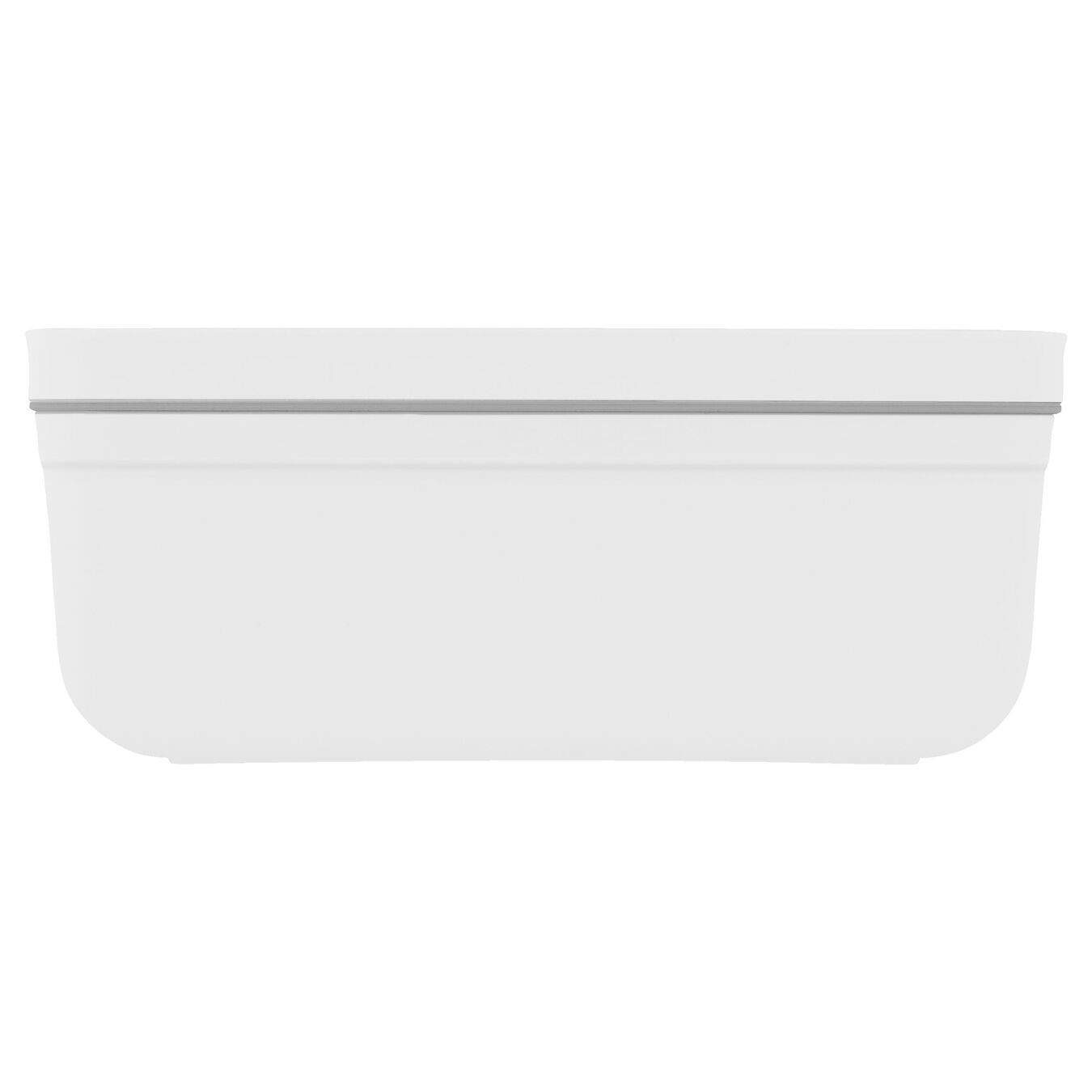 medium Vacuum lunch box, plastic, white,,large 3